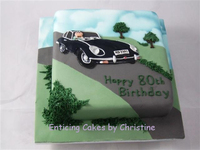 EType Jaguar Birthday Cake EnTicing Cakes by Christine