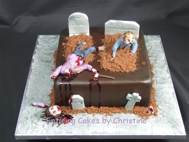 Zombie chocolate anniversary cake!